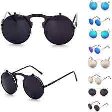 Round Vintage Retro Hippy Cyber Goggles Steampunk Mens Womens Sunglasses Vintage