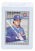 RYNE SANDBERG 1989 Fleer Chicago CUBS MLB Baseball Trading CARD #437 HOF