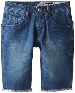 NEW VOLCOM BIG YOUTH NOVA SOLVER MODERN STRAIGHT LEG SHORTS JEAN size 10-12 A284