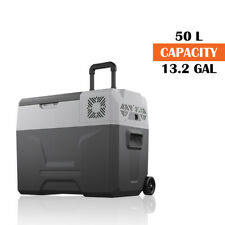 CX30 Electric Freezer Wheeled Refrigerator Cooler Portable Cooler AC//DC Compressor Electric Cooler Trolley Wheels for Truck RV Boat Party Travel Picnic Outdoor Camping