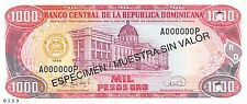 Dominican Republic 1000 Pesos  1996  P 158s   Uncirculated Banknote