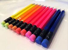 72 assorted neon Half mini short golf Hexagon #2 Pencils ExpressPencilsTM