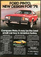 Vintage 1979 Ford Pinto PRINT AD Runabout Best Small Car Buy in America