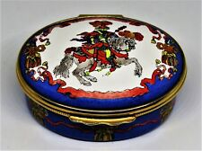 Gucci English Enamel Box- Christmas 1989 - Plumed Knight On A Horse - Le 116/500