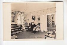 Real Photo Postcard Parlor Van Rensselaer House Morris  NY