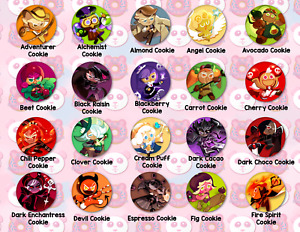 Cookie Run Kingdom Pins Buttons Keychains All Cookies Mala Sauce Twizzly Gummy