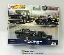 '66 Super Nova & Retro Rig * 2019 Hot Wheels Team Transport Car Culture D Case