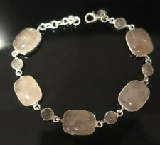 (BRAND NEW) Rose Quartz Gemstone Bracelet - £260 - Solid Sterling Silver