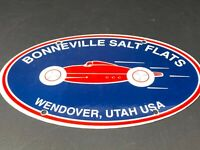 VINTAGE BONNEVILLE SALT FLATS PORCELAIN SIGN GAS OIL PUMP PLATE SERVICE STATION