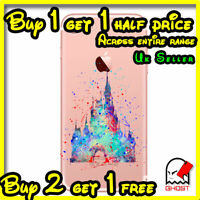Princess Disney Castle Hard Cover Watercolour Case Fits iPhone 5 5S SE 6 6S 7 8