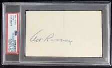 Art Rooney Signed Index Card Autograph PSA/DNA Steelers Football HOF Slabbed