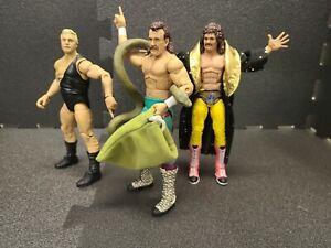 WWE Elite 3 Action Figure LOT Mattel WCW Wrestling Toys AEW WWF Retro