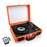 Pyle PVTTBT6OR Bluetooth Classic Vintage Style Vinyl Record Player Turntable
