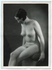 Photo Henri Manuel - Nu - Tirage argentique d'époque 1930's - Folies bergères -