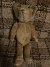 Antique Vintage Straw-Filled MOHAIR JOINTED BEAR Teddy Bear Plush 18""