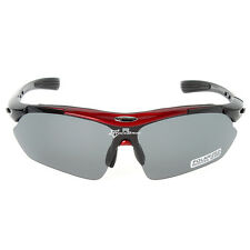 RockBros Polarized Cycling Sunglasses Bike Sport Glasses Goggles Black Red