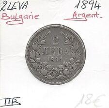 BULGARIE - 2 LEVA - 1894 - Pièce de Monnaie en Argent // Qualité: TTB