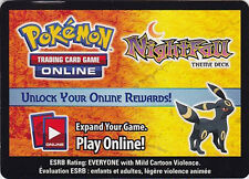 Pokemon ONLINE CODE Card for Umbreon Prime, Night Fall Theme and 3 Boosters