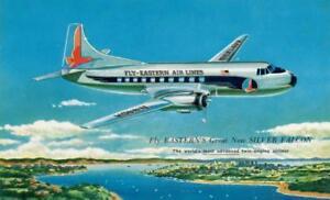 Eastern Airlines 1950's Silver Falcon Glenn L Martin PC