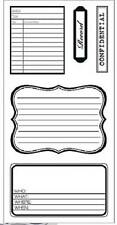 FISKARS Simple Stick JOURNALING Rubber Cling Stamps JOURNAL CONFIDENTIAL RECORD