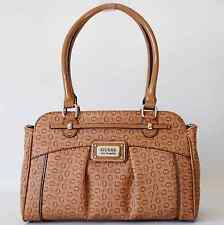 GUESS AUTHENTIC ROSARIO COGNAC G LOGO SATCHEL BAG HANDBAG PURSE NWT