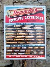 "Old Antique Style Remington Gun Cartridges Sign Retro Guns Ad Wall Decor USA 16"""