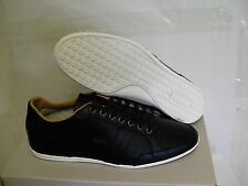 Lacoste casual shoes alisos 16 spm black leather sport driving size 8 us new