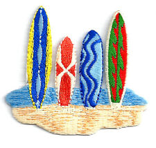 Surfboard - Beach - Surfing - Tropical - Embroidered Iron On Applique Patch