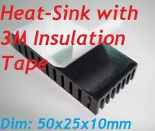 1pc Heatsink with Insulation Tape Aluminum Heat Sink for PCB Device LM2596, 2577