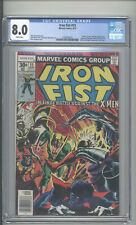 "IRON FIST  #15  CGC 8.0  ""X-MEN APPEARANCE """