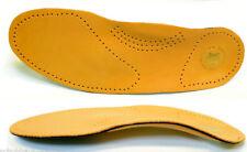 Leder Schuheinlage mit Fußbett Fußstütze Hilft bei Fersensporn u Fehlstellungen