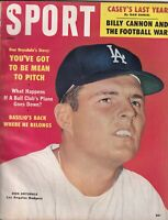 Sport Magazine Don Drysdale Billy Cannon June 1960 NO ML 073119nonr