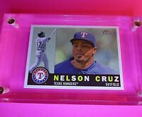 2009 Topps Heritage HIgh Number Series SP #714 Nelson Cruz Rangers