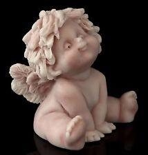"Angel Baby Marble Figurine Russian Art Stone Cherub Miniature Sculpture 1 7/8"""