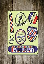 Friseur Ladenschild,Metallschild,Barbier Zeichen,Vintage Stil, Barbier, 349
