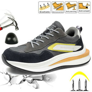 Mens Safety Trainers Work Shoes Steel Toe Cap Lightweight Hiking Boots Sneaker