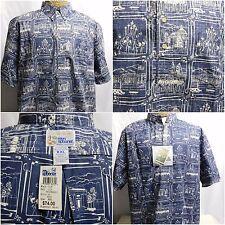 Reyn Spooner Reverse Print Pullover Short Sleeve Naval Academy Navy XXL 2XL New