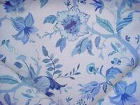 11Y Lee Jofa 2013122.515 Sayre Blue Print Floral Drapery Upholstery Fabric