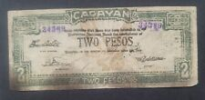Philippines CURRENCY MONEY EMERGENCY CIRCULATING NOTE CAGAYAN 2 pesos