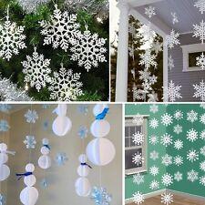 3 Metres Snowflake Bunting Banners For Christmas Wedding Decorative Garland