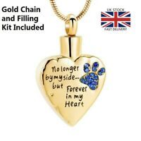 Pet Cat Dog Keepsake Heart Cremation urn Pendant Ashes Necklace Funeral Memorial