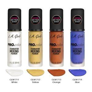 "4 LA GIRL Pro color Foundation Mixing Pigment - GLM ""4 color Full Set"" Joy's"