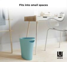 NEW SURF BLUE Umbra Stylish Skinny Trash Cans Small Decor Kitchen Home Office