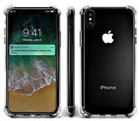 Case For iPhone X XS Shock Proof Crystal Clear Soft Silicone Bumper Cover Slim