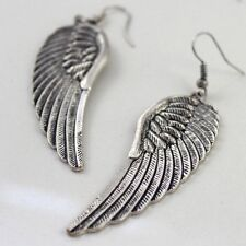 Angel Wings Drop Dangle Earrings Jewelry Retro Tibet Silver Womens Hot Fashion
