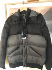Emporio Armani Men's Black Grey Packable Down Padded Jacket