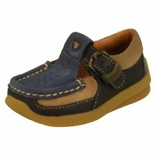 Clarks Casual Shoes for Boys with Buckle Leather Upper