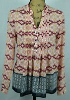 Anthropologie HD in Paris Tunic Size 4 / Small Colorful Geometric Printed Top