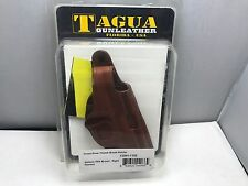 Tagua CDH1-1102 Cross Draw Thumb Holster Walter PPK Brown - Right Handed Leather
