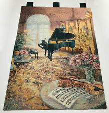 Music Room Baby Grand Piano Tapestry Wall Hanging ~ Artist, Lena Liu